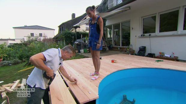 Preview: Katja und Thilo bauen Terrasse mit Pool!