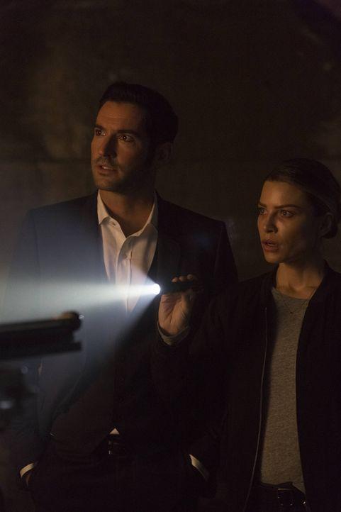 Lucifer (Tom Ellis, l.) und Chloe (Lauren German, r.) ermitteln in einem Fall, bei dem der Täter seine Opfer für die Demütigung anderer bestraft. Ei... - Bildquelle: 2016 Warner Brothers