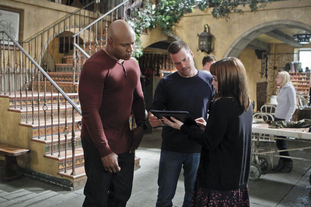 Sam (LL Cool J, l.), Callen (Chris O'Donnell, M.) und Nell (Renée Felice Smith, r.) sind auf der Suche nach einem U-Boot voller Kokain ... - Bildquelle: CBS Studios Inc. All Rights Reserved.