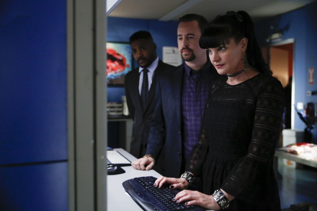(v.l.n.r.) Clayton Reeves (Duane Henry); McGee (Sean Murray); Abby (Pauley Perrette) - Bildquelle: Cliff Lipson 2017 CBS Broadcasting, Inc. All Rights Reserved / Cliff Lipson