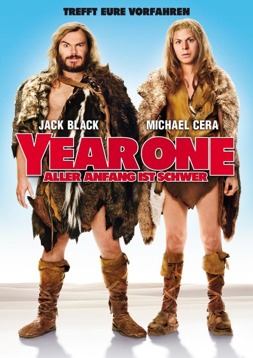 YEAR ONE - ALLER ANFANG IST SCHWER - Plakatmotiv - mit Jack Black, l. und Michael Cera, r. - Bildquelle: 2009 Columbia Pictures Industries, Inc. All Rights Reserved.