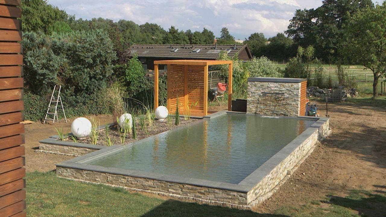 Heimwerker- und Eigenheim-Traum: Ein selbst errichteter Pool oder Schwimmteich im eigenen Garten ... - Bildquelle: kabel eins