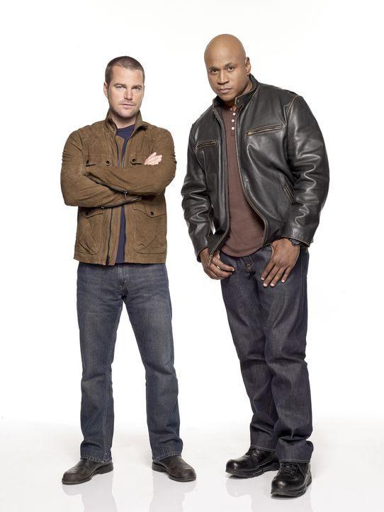 (5. Staffel) - Ermitteln Undercover im sonnigen Kalifornien um die nationale Sicherheit zu wahren: Special Agent G. Callen (Chris O'Donnell, l.) und... - Bildquelle: CBS Studios Inc. All Rights Reserved.