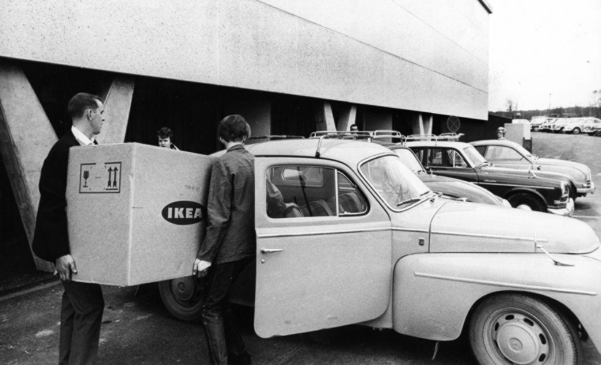 IKEA Kungens Kurva Kundenparkplatz 1967