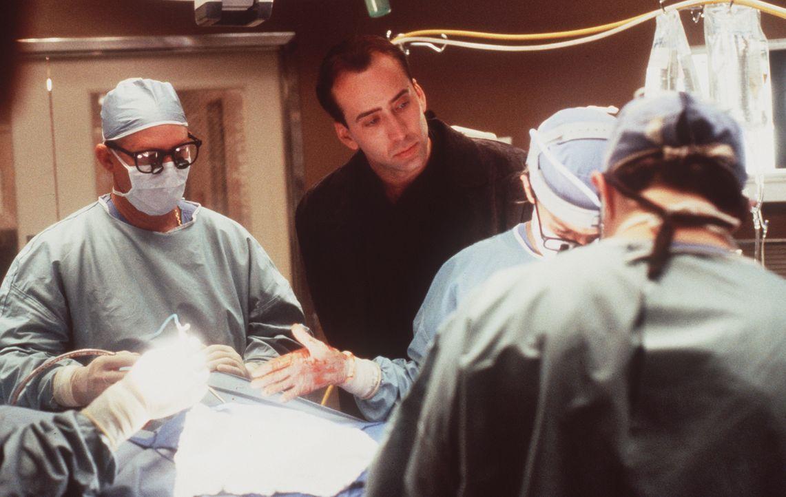 Eigentlich ist es die Aufgabe des Schutzengels Seth (Nicolas Cage, M.), den Sterbenden den Weg ins nächste Leben zu erleichtern. Doch der verzweifel... - Bildquelle: Warner Bros.
