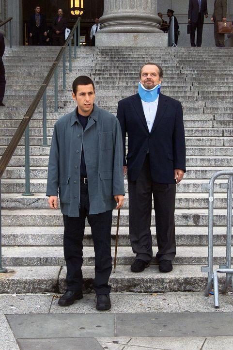 Dave (Adam Sandler, l.) wird zu 20 Therapiestunden bei dem Psychiater Buddy Rydell (Jack Nicholson, r.) verurteilt. Ein Fehler, denn Buddy treibt Da... - Bildquelle: 2003 Sony Pictures Television International. All Rights Reserved.