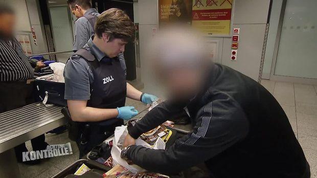 Achtung Kontrolle - Achtung Kontrolle! - Thema U.a.: Illegeale Fleisch-einfuhr - Zoll Flughafen Frankfurt