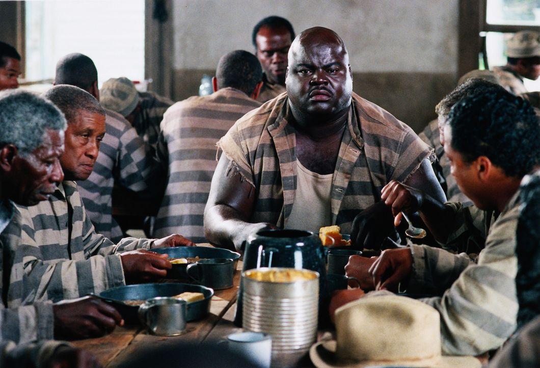 Im Gefängnis lernen Claude und Ray, die unschuldig zu lebenslänglich verurteilt wurden,  viele Mithäftlinge kennen, darunter auch Goldmouth (Michael... - Bildquelle: 1999 Universal Studios. All rights reserved