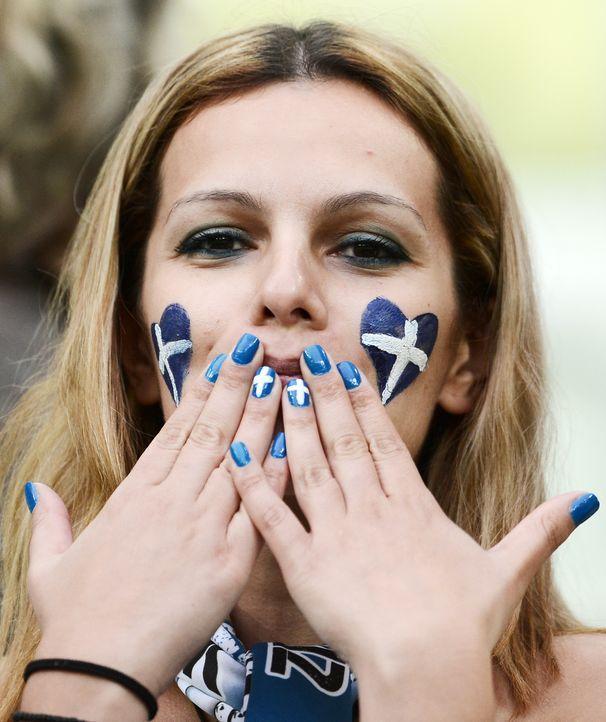 Die griechischen Fans - 8 - Bildquelle: AFP