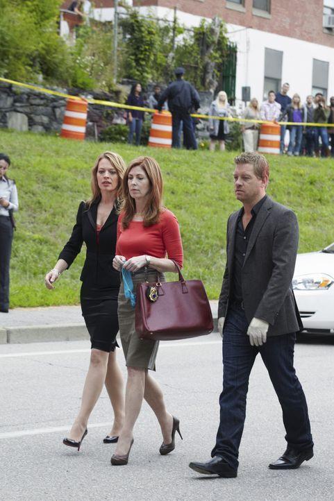 Untersuchen gemeinsam einen neuen Mordfall: Megan (Dana Delany, M.), Peter (Nicholas Bishop, r.) und Kate Murphy (Jeri Ryan, l.) ... - Bildquelle: ABC Studios