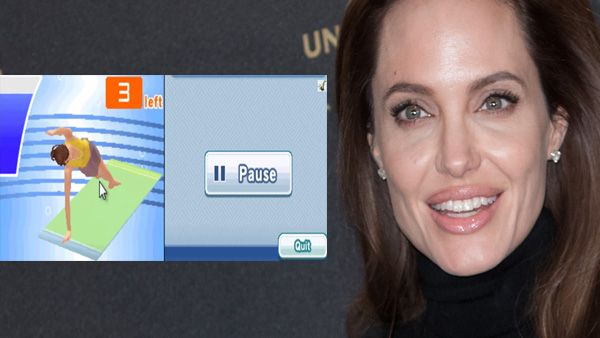 Angelina Jolie Lets Pilates