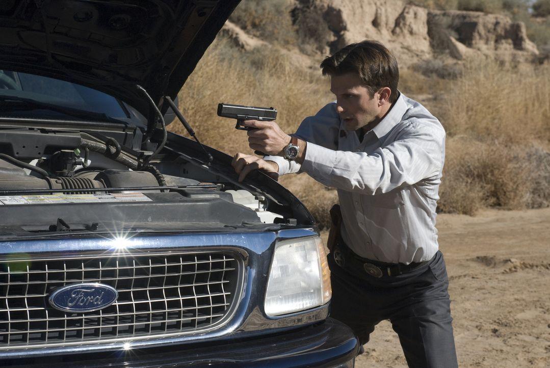 Eine Auftragskillerin soll dingfest gemacht werden. Bei dem Auftrag gerät Inspector Marshall Mann (Fred Weller) in die Schusslinie der Gangster ... - Bildquelle: USA Network