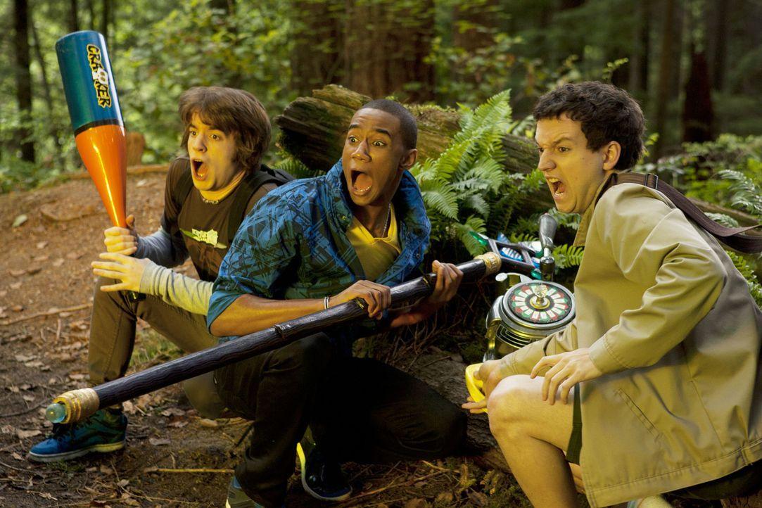 Dante (Connor Del Rio, l.), Lyle (Jessie Usher, M.) und Wyatt (Gaelan Connell, r.) müssen erkennen, dass es wesentlich leichter und ungefährlicher... - Bildquelle: TM &   Turner Broadcasting System.