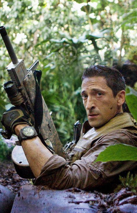 """Der frühere US-Army-Soldat Royce (Adrien Brody) muss erleben, dass die blutrünstigen """"Predators"""" ihn auf einen ihrer Planeten verschleppt haben, um... - Bildquelle: 2010 Twentieth Century Fox Film Corporation. All rights reserved."""