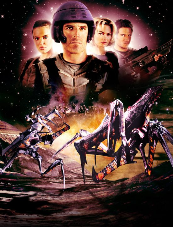 Starship Troopers 2 - Held der Föderation  - mit Richard Burgi (vorne) ... - Bildquelle: Sony Pictures