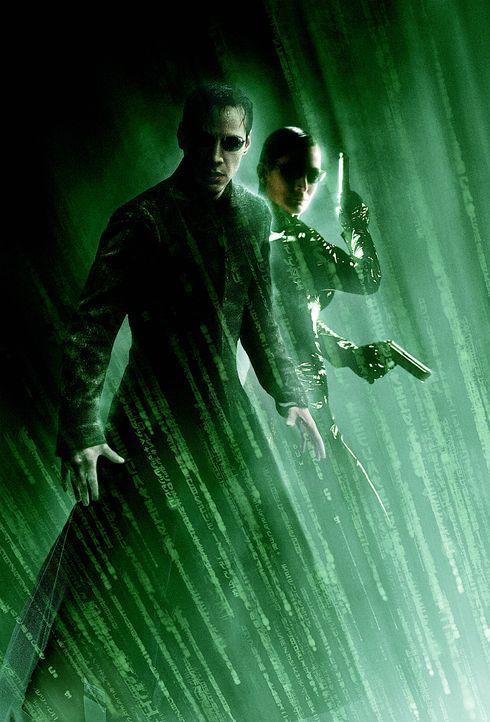 Matrix Reloaded mit Keanu Reeves, l. und Carrie-Anne Moss, r. ... - Bildquelle: Warner Bros.
