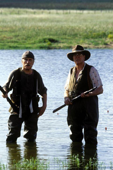Die anfänglich unwilligen alten Männer Hub (Robert Duvall, l.) und Gath (Michael Caine, r.) erfassen bald Zuneigung zu ihrem introvertierten Gast,... - Bildquelle: New Line Cinema