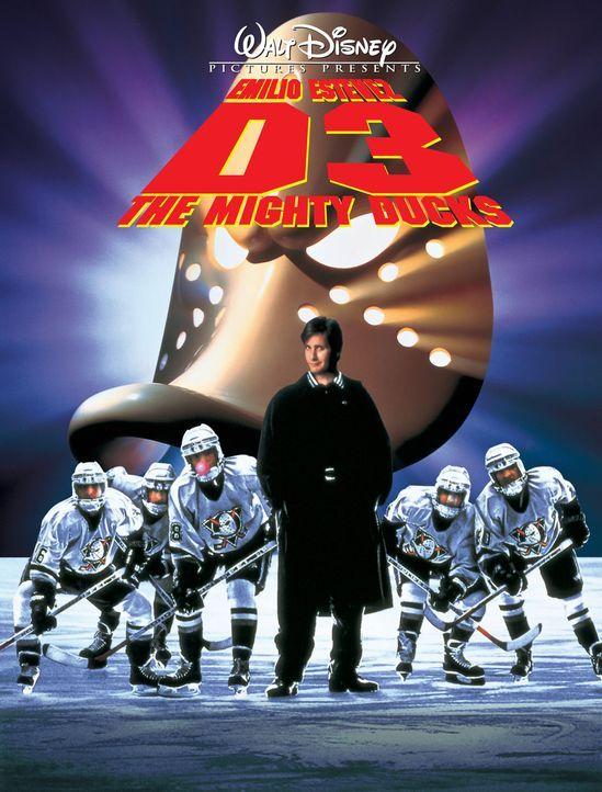 """""""MIGHTY DUCKS 3 - JETZT MISCHEN SIE DIE HIGHSCHOOL AUF"""" - Plakatmotiv - Bildquelle: Disney.  All Rights Reserved."""