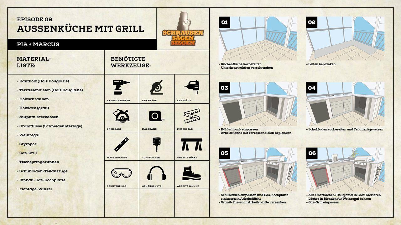 Projekt Aussenküche mit Grill von Pia und Markus - Bildquelle: Kabel Eins
