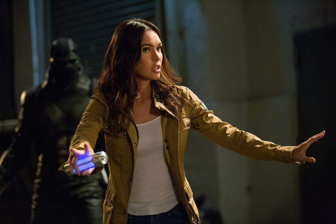 Kämpft gegen das Böse: April (Megan Fox) ... - Bildquelle: Jessica Miglio 2018 Paramount Pictures. All Rights Reserved. TEENAGE MUTANT NINJA TURTLES is a trademark of Viacom International Inc. / Jessica Miglio
