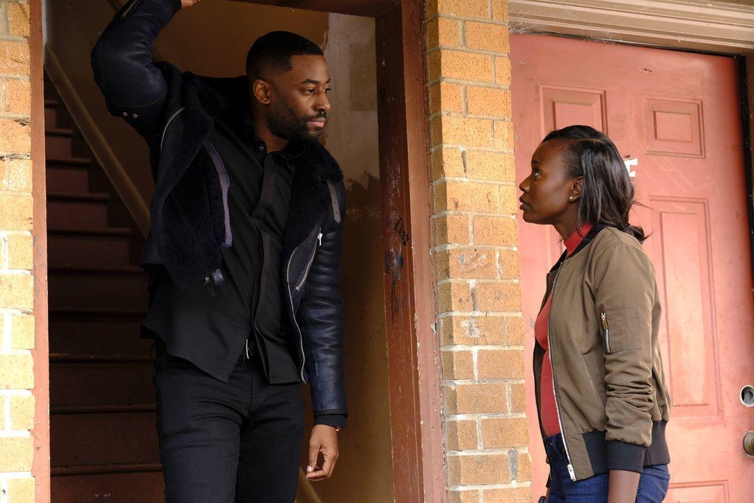 Carter ist gar nicht erfreut darüber, dass sich Nicole (Anna Diop, r.) nicht von Isaac (Ashley Thomas, l.) fernhält. Ist er wirklich eine Gefahr für... - Bildquelle: Guy D'Alema 2017 Fox and its related entities.  All rights reserved.