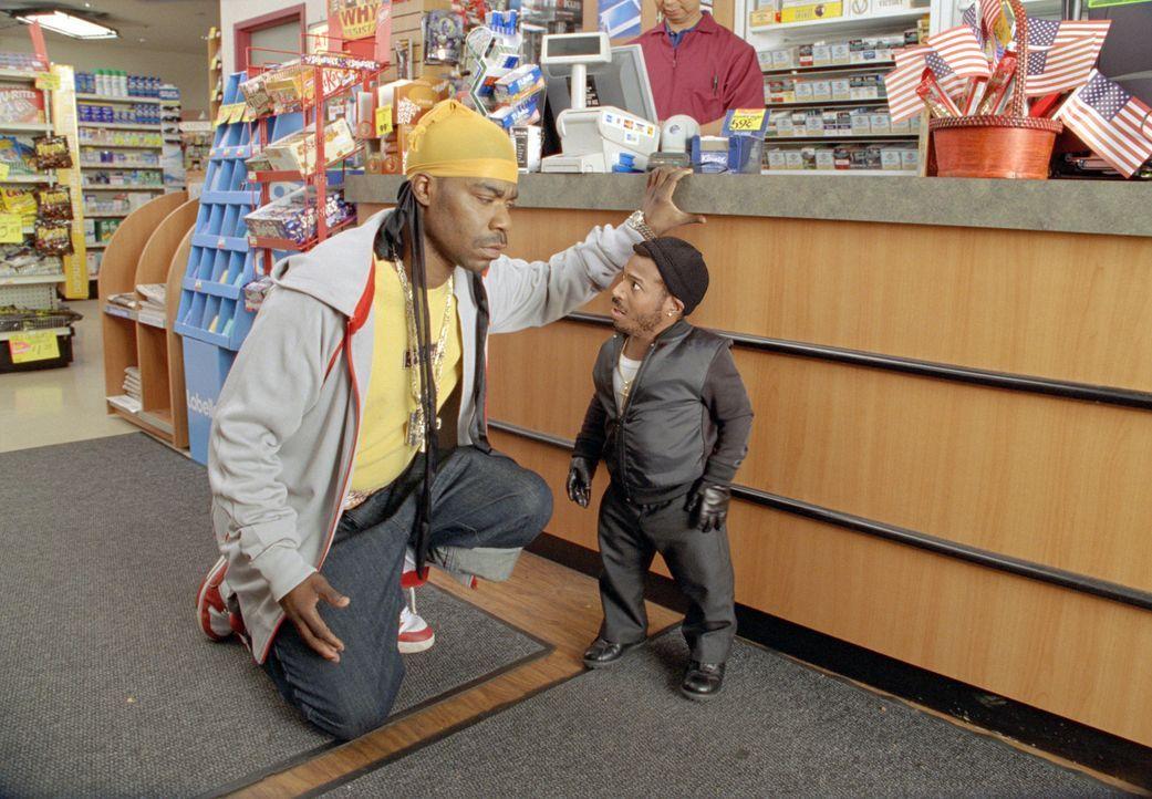 """Verzweifelt versucht Darryl (Shawn Wayans, r.) seinem """"Sohn"""" Calvin (Marlon Wayans, l.) klarzumachen, dass Stehlen etwas ganz Böses ist. Darryl ahnt... - Bildquelle: Sony Pictures Television International. All Rights Reserved."""