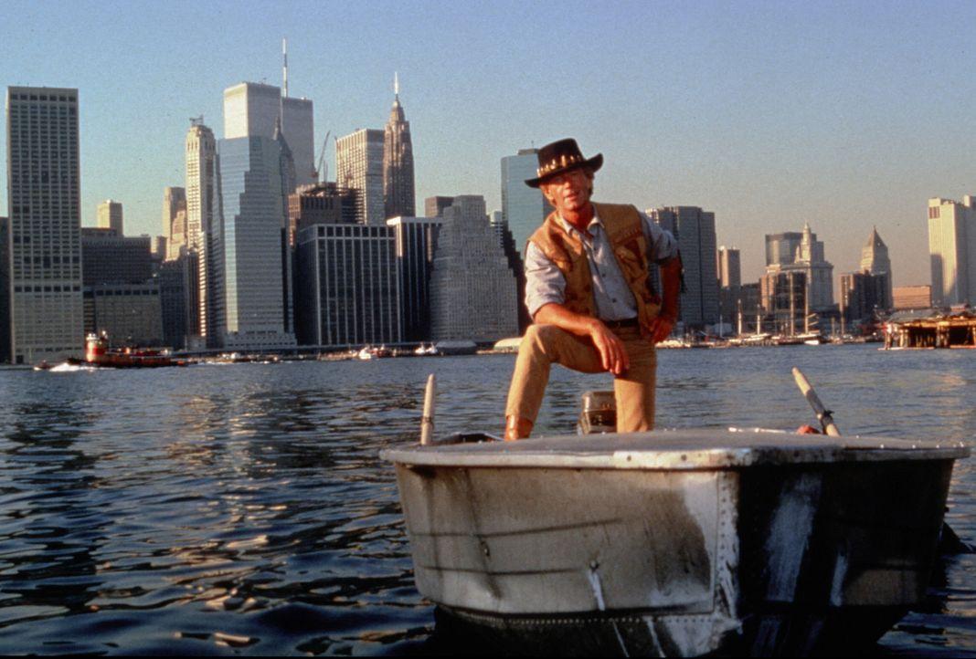 Der australische Naturbursche Mick Dundee (Paul Hogan) hat sich auch in New York seine unverwechselbare Art bewahrt ... - Bildquelle: Paramount Pictures