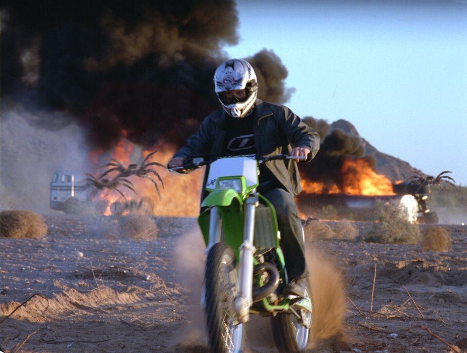 Die Explosion macht leider nicht alle Achtbeiner unschädlich. In diesem Fall bleibt nur noch die Flucht ... - Bildquelle: Warner Bros. Pictures