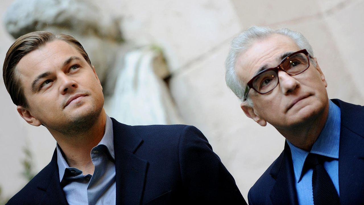 Leonardo DiCaprio mit Regisseur Martin Scorsese - Bildquelle: AFP