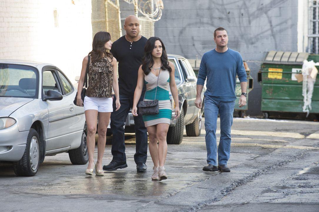 Ein neuer Fall bringt sie mit einem alten Bekannten in Kontakt: Martina (Cindy Luna, l.), Sam (LL Cool J, 2.v.l.), Rita (Jessica Camacho, 2.v.r.) un... - Bildquelle: CBS Studios Inc. All Rights Reserved.