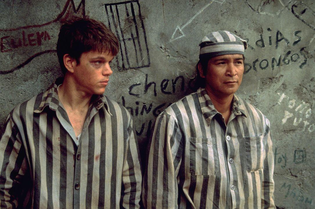 Als John (Matt Damon, l.) und Lacey des Pferdediebstahls bezichtigt werden, wissen sie, dass es sich um eine abgekartete Sache handelt. Trotzdem lan... - Bildquelle: Sony Pictures Entertainment