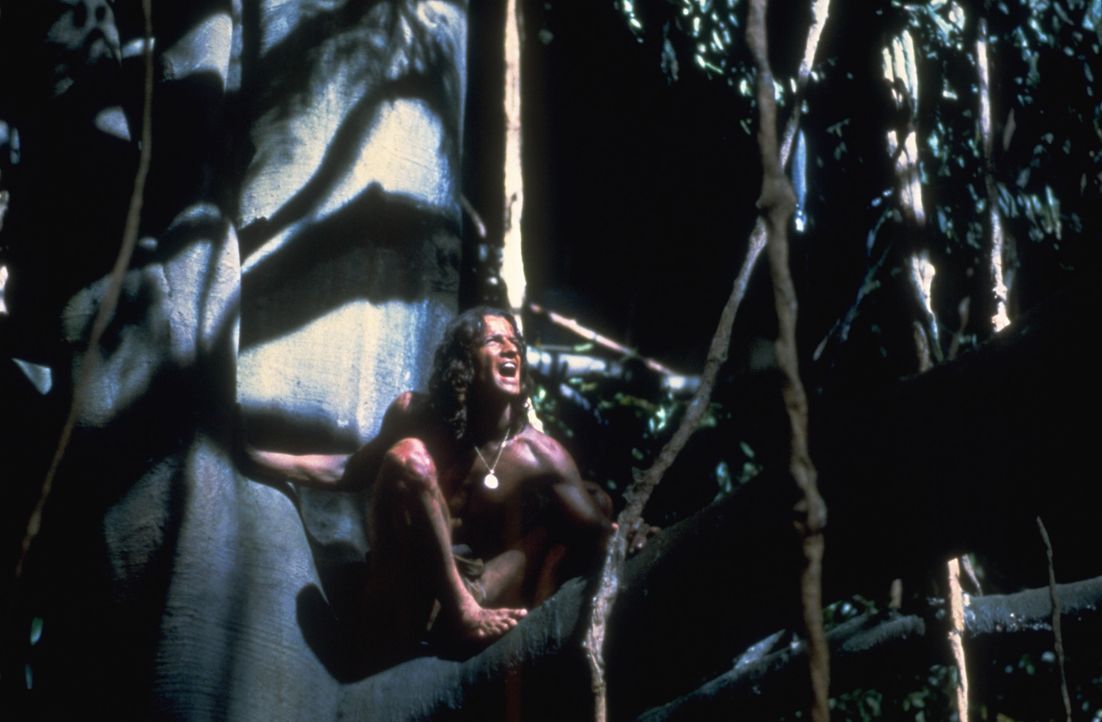 Lord Greystoke (Christopher Lambert) kehrt, abgestoßen von der menschlichen Zivilisation, in seinen Dschungel zurück ... - Bildquelle: Warner Bros.