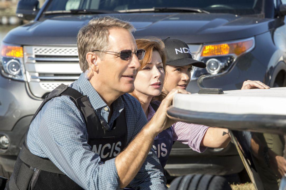 Ein neuer Mordfall beschäftigt Pride (Scott Bakula, l.), Brody (Zoe McLellan, r.) und Abigail Borin (Diane Neal, M.) ... - Bildquelle: 2014 CBS Broadcasting Inc. All Rights Reserved.