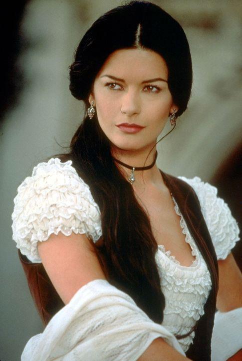 Elena (Catherine Zeta-Jones) verliebt sich in den Gegenspieler von Montero, den sie für ihren Vater hält. - Bildquelle: Columbia Pictures