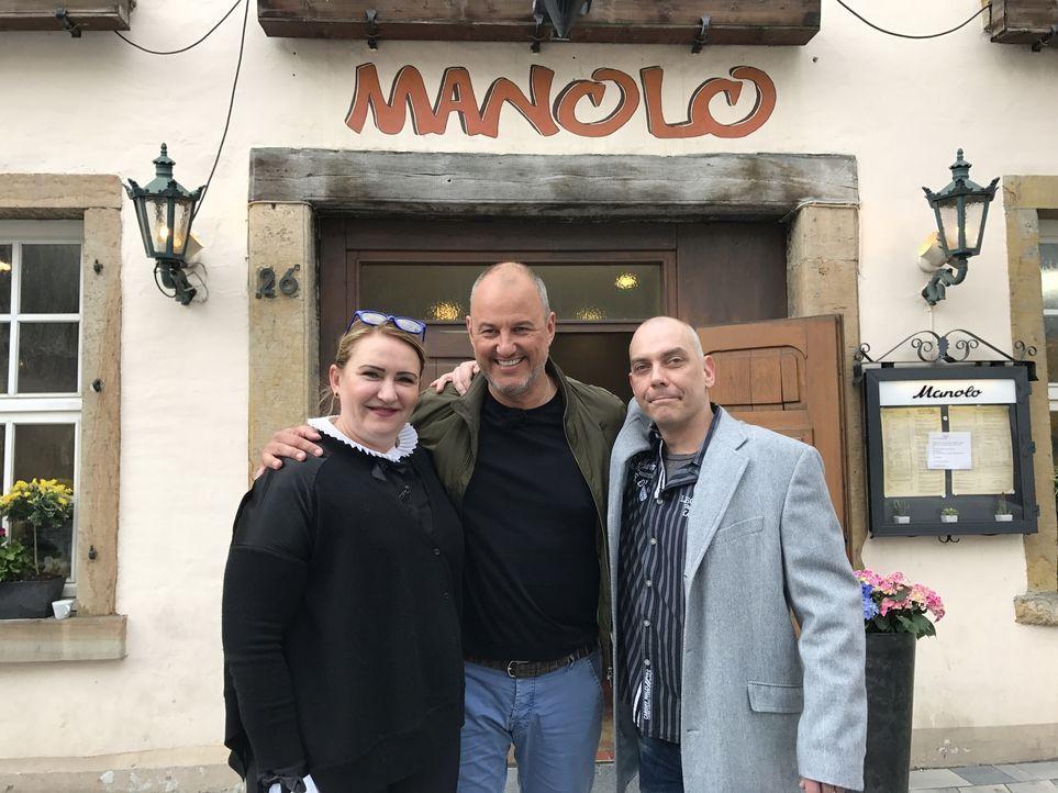 """Um ihr mexikanisches Restaurant """"Manolo"""" und damit ihre Existenz zu retten, hoffen Christopher (r.) und seine Frau Irina (l.) auf die Hilfe von Fran... - Bildquelle: kabel eins"""