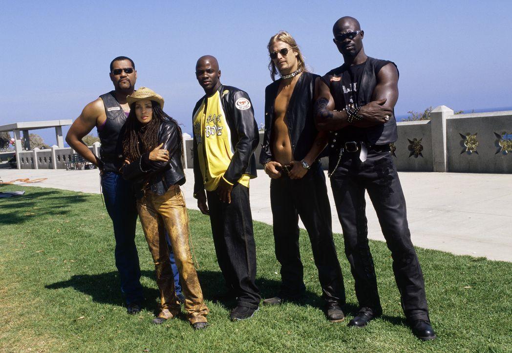 Motorradfreaks forever: (v.l.n.r.) Smoke (Laurence Fishburne), Queenie (Lisa Bonet), Kid (Derek Luke), Dogg (Kid Rock) und Motherland (Djimon Hounso... - Bildquelle: DreamWorks SKG
