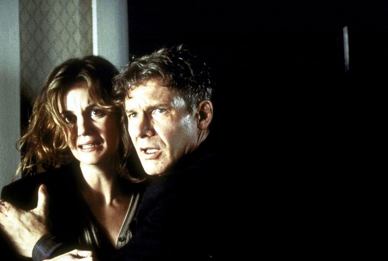 Das friedliche Familienleben vom Tom (Harrison Ford, r.) und Sheila O'Meara (Margaret Colin, l.) wird jäh zerstört, als sie den irischen Terrorist... - Bildquelle: Columbia TriStar