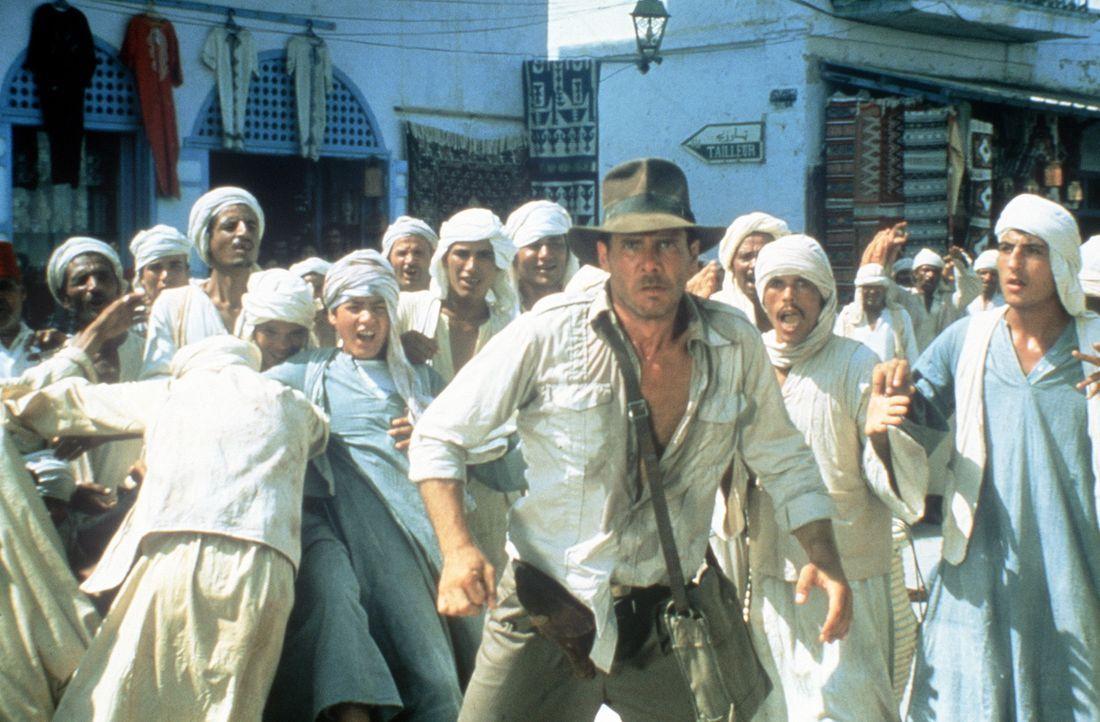 Indiana Jones (Harrison Ford) findet immer einen Ausweg ... - Bildquelle: Paramount Pictures