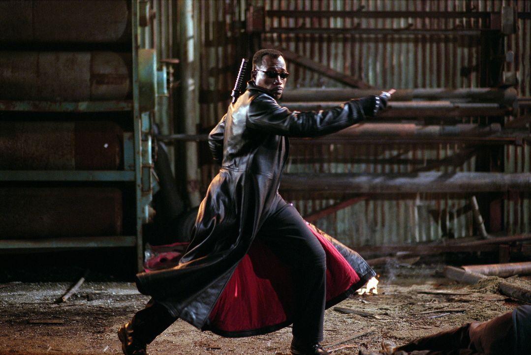 Als der unsterbliche Sohn eines Vampirs und einer menschlichen Frau hat Blade (Wesley Snipes) es keineswegs leicht ... - Bildquelle: New Line Cinema