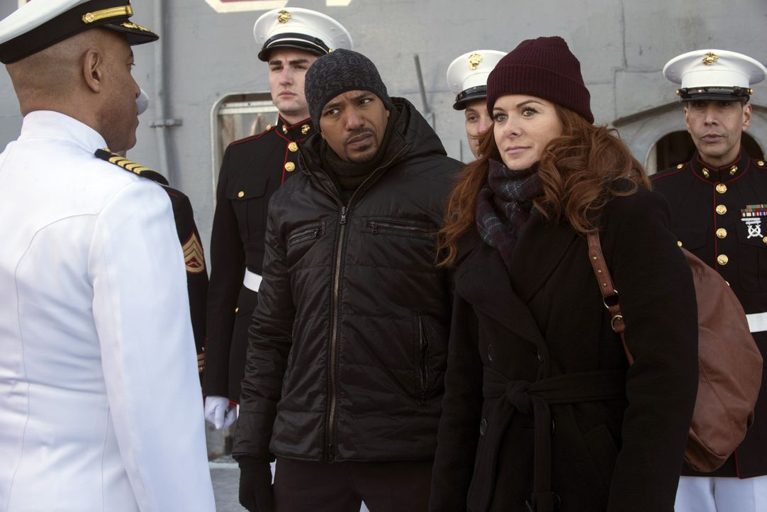 Müssen einen neuen Mordfall aufklären: Laura (Debra Messing, vorne r.) und Billy (Laz Alonso, vorne M.) ... - Bildquelle: Warner Bros. Entertainment, Inc.