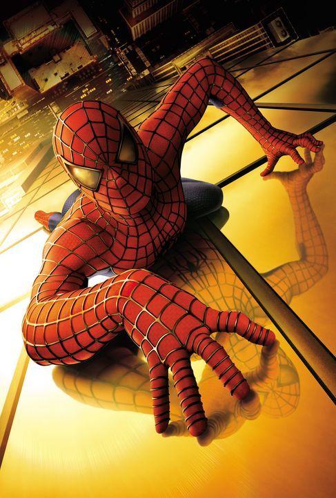 Der Biss einer genmanipulierten Spinne besiegelt das Schicksal des schüchternen Peter Parker (Tobey Maguire): aus ihm wird Spider-Man! - Bildquelle: 2003 Sony Pictures Television International