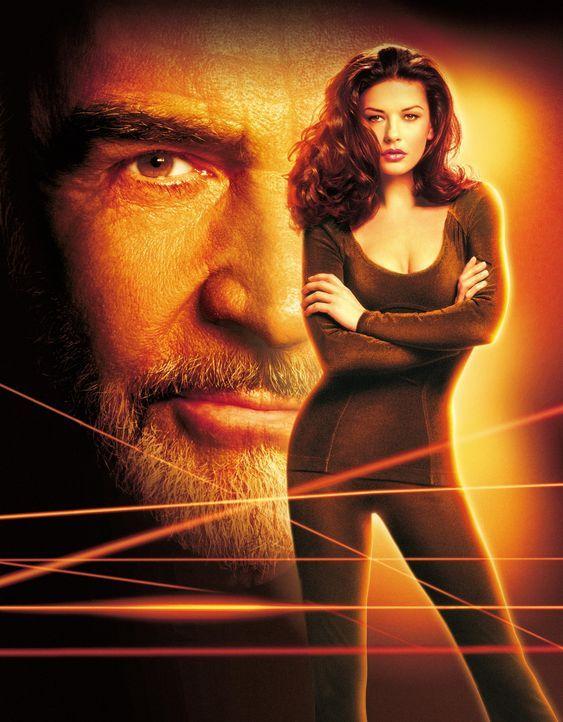 Verlockende Falle - Artwork - Meisterdieb Sean Connery, l. in der verlockenden Falle von Versicherungsagentin Catherine Zeta-Jones, r. - Bildquelle: 20th Century Fox.