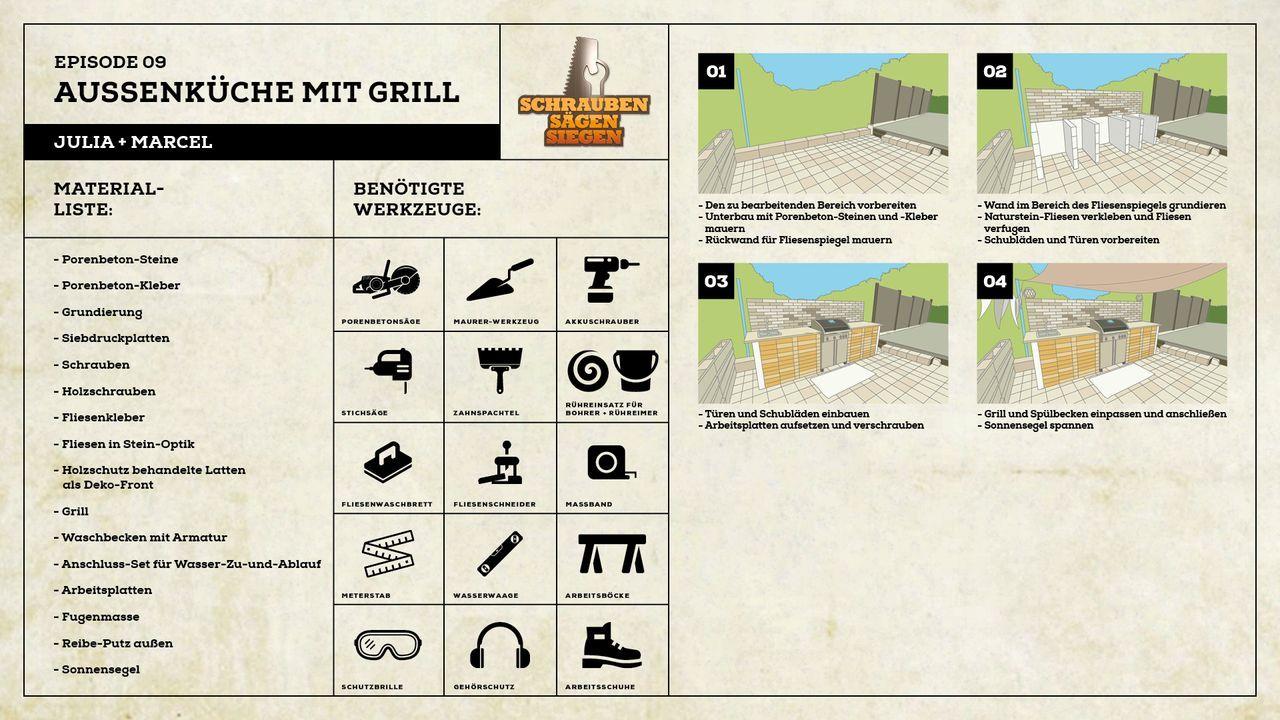 Projekt Aussenküche mit Grill von Julia und Marcel - Bildquelle: Kabel Eins