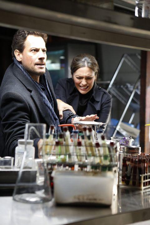 Im Visier eines Giftmischers: Dr. Henry Morgan (Ioan Gruffudd, l.) und Detective Jo Martinez (Alana de la Garza, r.) ... - Bildquelle: Warner Brothers
