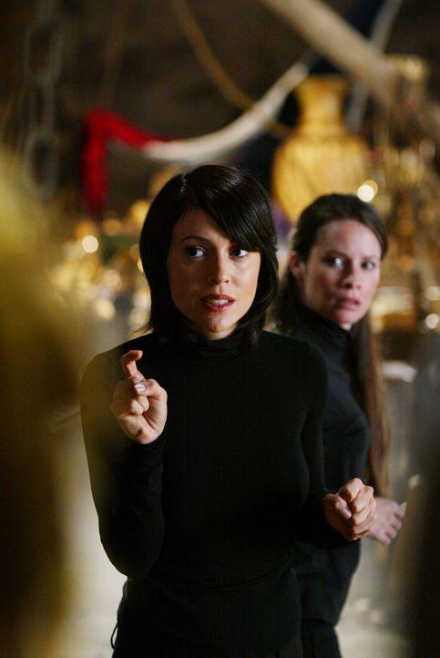 Um den Spuk zu beenden und Paige zu befreien, müssen Phoebe (Alyssa Milano, l.), Piper (Holly Marie Combs, r.) einen goldenen Kelch stehlen. Doch da... - Bildquelle: Paramount Pictures