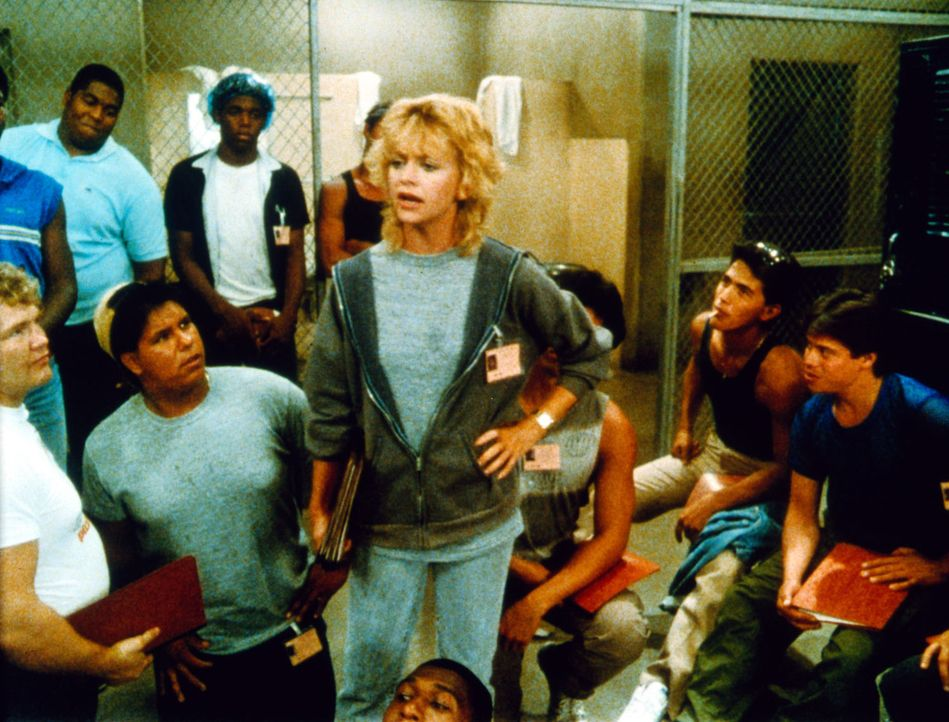 Mit zotigen Sprüchen und der Überzeugung, dass eine Frau hier völlig fehl am Platze sei, heizen die rauen Jungs ihrem neuen Coach (Goldie Hawn, M... - Bildquelle: Warner Bros.