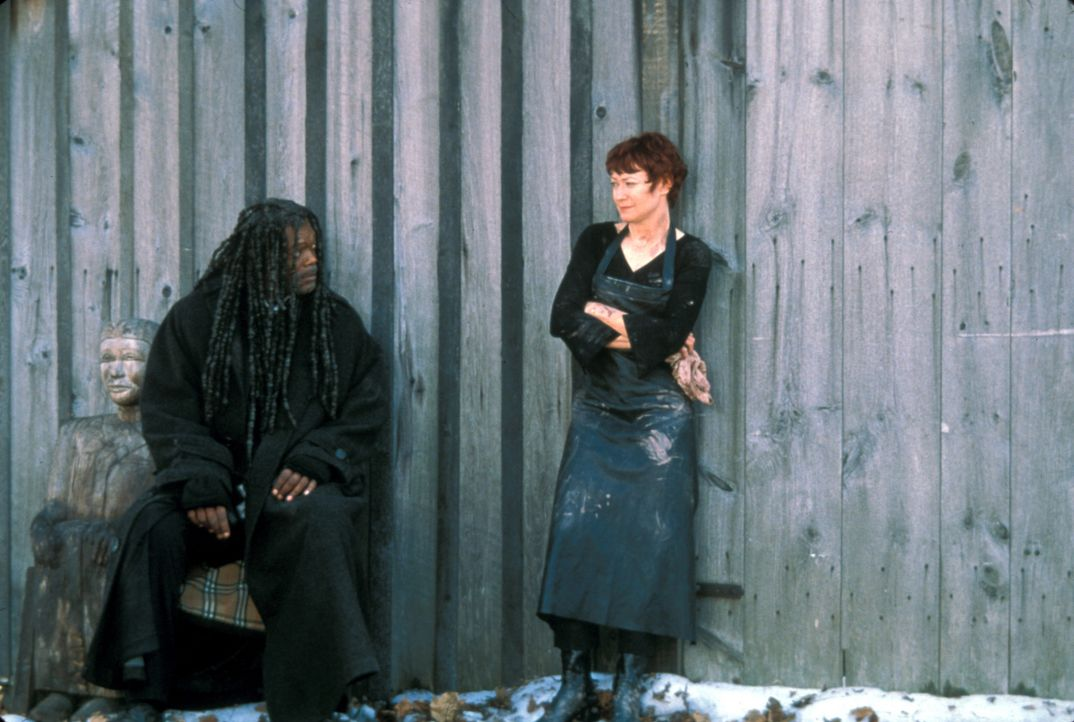 Bei seinen Ermittlungen freundet sich Romulus (Samuel L. Jackson, l.) mit Moira (Ann Magnuson, r.), der Schwester des berühmten Fotografen David Le... - Bildquelle: Francise Productions
