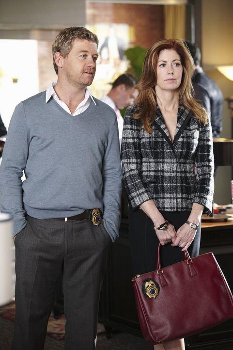Versuchen den Mord an Daphne Zimmer aufzuklären: Megan (Dana Delany, r.) und Peter (Nicholas Bishop, l.) ... - Bildquelle: ABC Studios