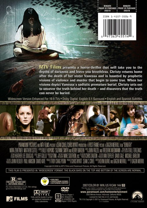 BENEATH - DVD Rückseite - Bildquelle: (2007) BY MTV FILMS AND PARAMOUNT PICTURES. ALL RIGHTS RESERVED.