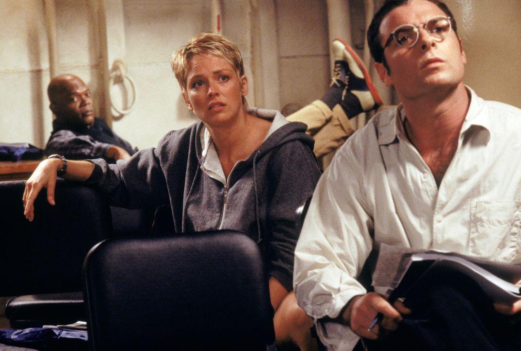 Die Wissenschaftler Dr. Beth Halperin (Sharon Stone, vorne l.), Dr. Ted Fielding (Liev Schreiber, vorne r.) und Dr. Harry Adams (Samuel L. Jackson,... - Bildquelle: Warner Bros. Pictures